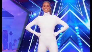 Digital Artists Use Heidi's Body To Demonstrate | Week 5 | America's Got Talent 2017