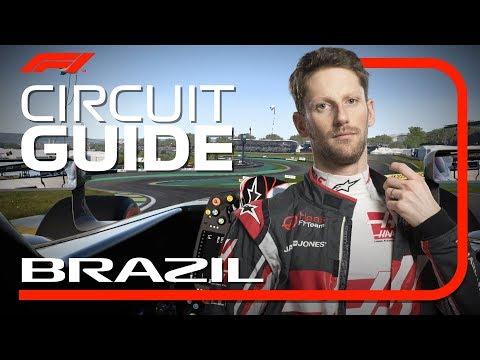 Romain Grosjean's Virtual Hot Lap Of Interlagos | 2018 Brazilian Grand Prix