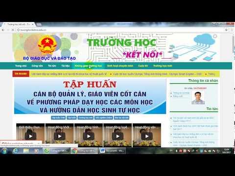 Hướng dẫn GV chuyển trường trên trang mạng Trường học kết nối