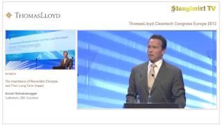 Arnold Schwarzenegger & der Stanglwirt auf dem Thomas Lloyd Cleantech Kongress Europa