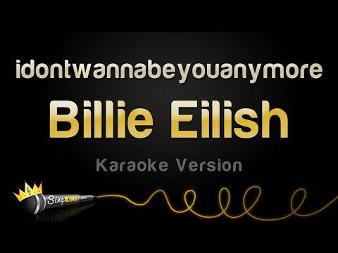Billie Eilish - idontwannabeyouanymore (Karaoke Version)