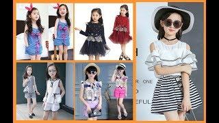Casual Frock Ideas For Little Girl=Kids Summer Dress Design 2019-20