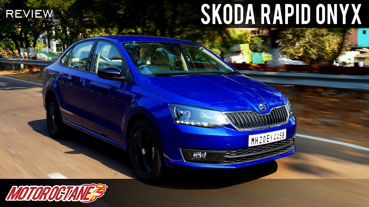Motoroctane Youtube Video - 2019 Skoda Rapid Onyx Review | Hindi | MotorOctane
