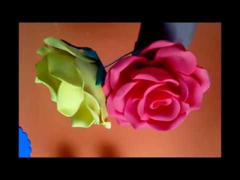 Rosas com frisador caseiro