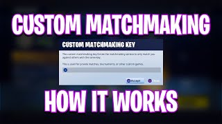 How to do custom matchmaking fortnite mobile