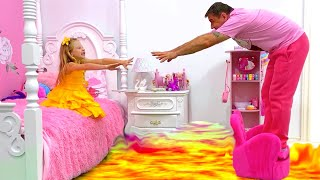 The Floor Is Lava - Story By Nastya And Dad