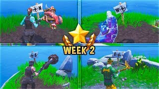 NEW Fortnite WEEK 2 CHALLENGES GUIDE! Visit the North, South, East, And West Points Of The Island..!