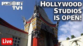 🔴Live: Disneys Hollywood Studios Is OPEN!  Reopening Day Live Stream | Walt Disney World