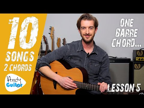 SONG 5 'Dance The Night Away' by Mavericks // 10 SONGS WITH 2 CHORDS 1 BARRE CHORD