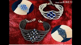 Diamond Bracelet || DIY Beaded Bracelet || How To Make Beaded Bracelet