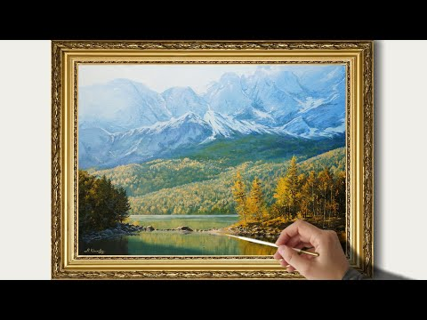 How to paint Mountain Landscape in Oil. Paintings by Maria Yushkevich