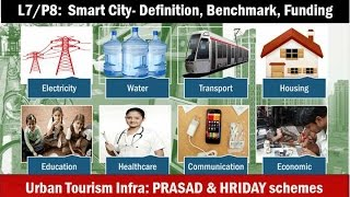 L7/P8: Smart Cities-Meaning, Benchmarks, Funding, Criticism; Prasad, Hriday Tourism