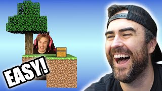 Big Brains Play Minecraft Skyblock #2 w/Pewdiepie