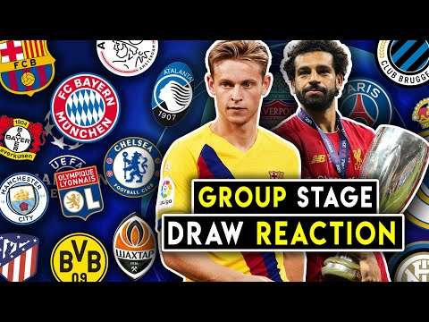 GROUP STAGE DRAW REACTION! Champions League Group Stage Draw 19/20 | BugaLuis