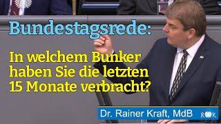 Rainer Kraft im Bundestag: Ihre Politik ist ökosozialistischer Einheitsbrei!