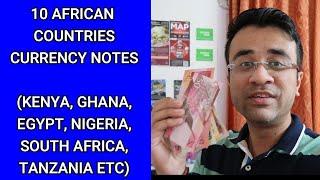 10 African Countries Currency Notes - South Africa Rand, Kenya Shilling, Nigeria Naira, Uganda,Ghana
