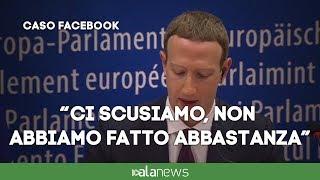 """Zuckerberg: """"Ci scusiamo per errore commesso"""""""