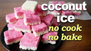 Coconut Ice Recipe | Christmas Sweet | No Cook No Bake | Easy Sweet Recipes | Christmas Recipes