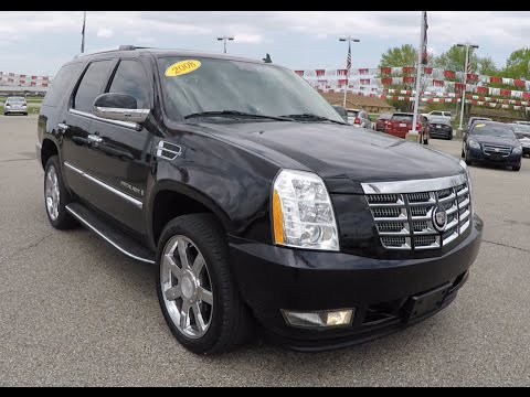 Download Used 2008 Cadillac Escalade Black | Chrome Wheels | Luxury SUV | P10065A HD Mp4 3GP Video and MP3
