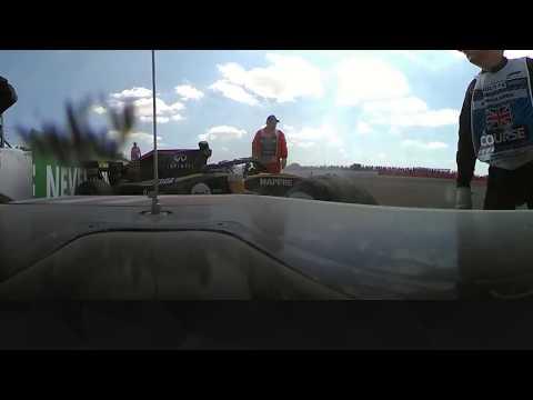 Sainz and Grosjean's Wipeout at Silverstone (360 Video)   2018 British Grand Prix