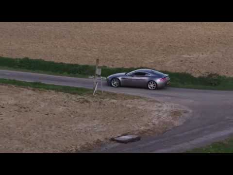 Awesome Aston Martin Vantage V8 Drone Footage and Exhaust Sound!