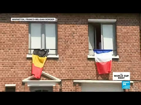France vs Belgium: residents of border town pick their side