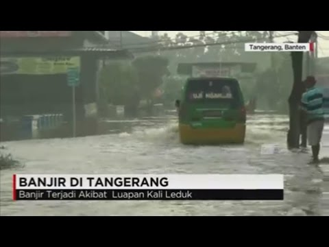 Kali Leduk Meluap, Tangerang Banjir