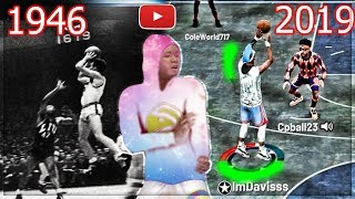 I USED THE FIRST JUMPSHOT IN NBA HISTORY IN MY PARK.. 73 YEARS LATER JUMPSHOT NBA 2K19