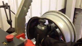 Buckled alloy wheel repair