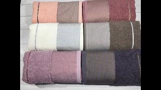 Лицо 50х90см., 6 шт/уп. Лицевые махровые полотенца. Турция Durul havlu от компании Euro texti VIP - видео