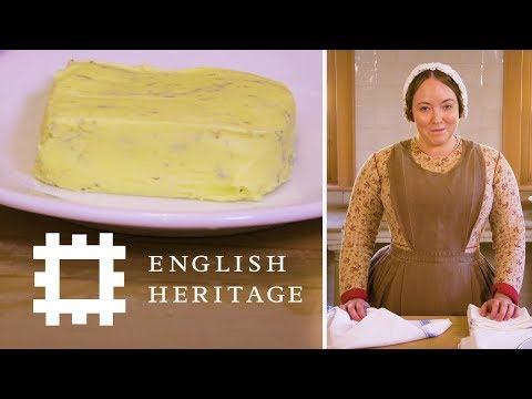 Making Butter the Victorian Way