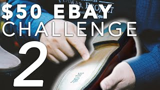How To Make Old Shoes Look Brand New 👞✨| Allen Edmonds $50 Ebay Challenge | Kirby Allison