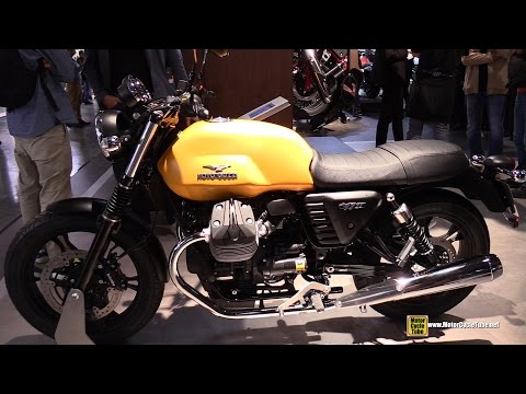 2015 Moto Guzzi V7 II Stone - Walkaround - 2014 EICMA Milano Motocycle Exhibition