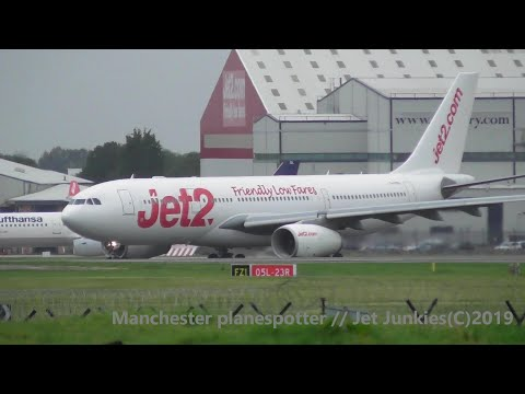 (HD) Late Morning And Afternoon Plane Spotting At (MAN) Manchester Airport (EGCC) On The 15/09/2019