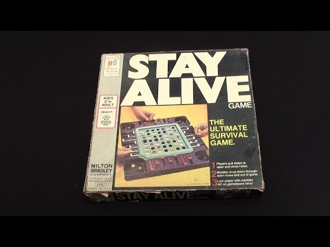 Stay Alive - Old School Board Game by Milton Bradley (1971)