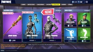 FORTNITE SKULL TROOPER is BACK! (Skull Ranger Update 6.02 Item Shop)