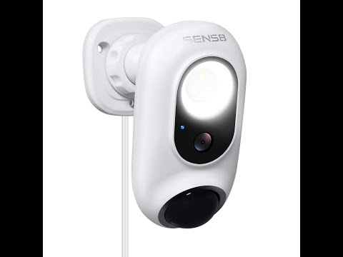 SENS8 1080p Wi-Fi Outdoor Motion Detecting Security Camera with LED Light