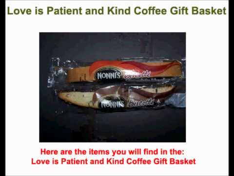 Love is Patient and Kind Coffee Gift Basket