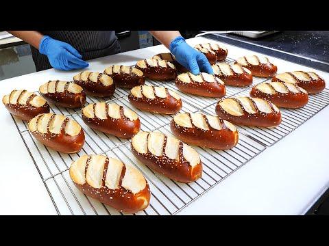 하루 50개 한정판매! 산딸기 프레첼, 만화에 나오는 빵 / milk bread – homemade raspberry pretzel bread