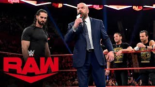 Triple H presents a choice to Seth Rollins as the black-and-gold brand attempts a Raw takeover. GET YOUR 1st MONTH of WWE NETWORK for FREE: http://wwe.yt/wwenetwork