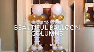 HOW TO MAKE BEAUTIFUL BALLOON COLUMNS FOR WEDDING OR PARTY  #partyballoons #wedding