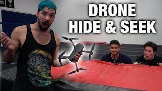 INSANE DRONE HIDE & SEEK IN TRAMPOLINE PARK (drone crash!)