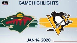 NHL Highlights | Wild vs Penguins – Jan. 14, 2020