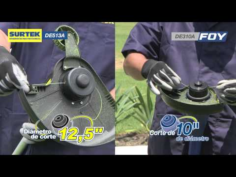 Corta el pasto o el cesped con Desbrozadoras eléctricas: Surtek y Foy