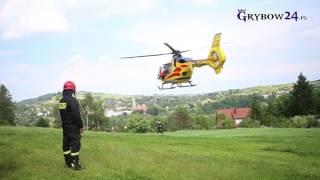 Grybów24.pl - wypadek podczas prac polowych. LPR zabrał rannego!