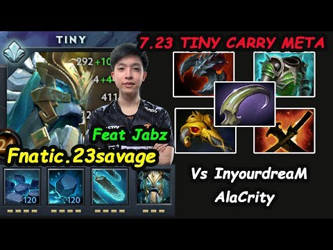 Fnatic.23savage [Tiny] Carry INSANE RIGHT CLICK Back to meta vs Inyourdream Dota 2 7.23 pro Gameplay