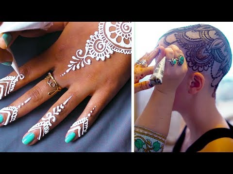 beautiful intricate mehndi design on all parts of body by talented artis