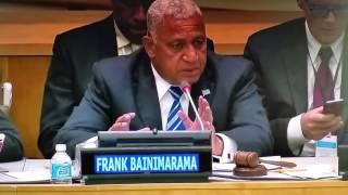 Fiji's Prime Minister Josaia Voreqe (Frank) Bainimarama