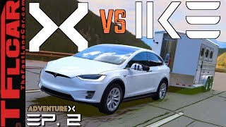 Power Hungry Tesla Model X vs The World's Toughest Towing Test | Adventure X Ep. 2