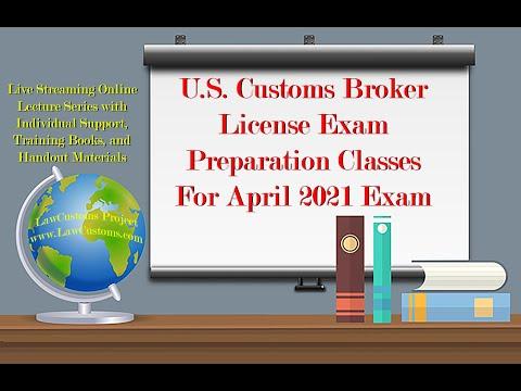 April 2021 Customs Broker License Exam Preparation Class Kick ...